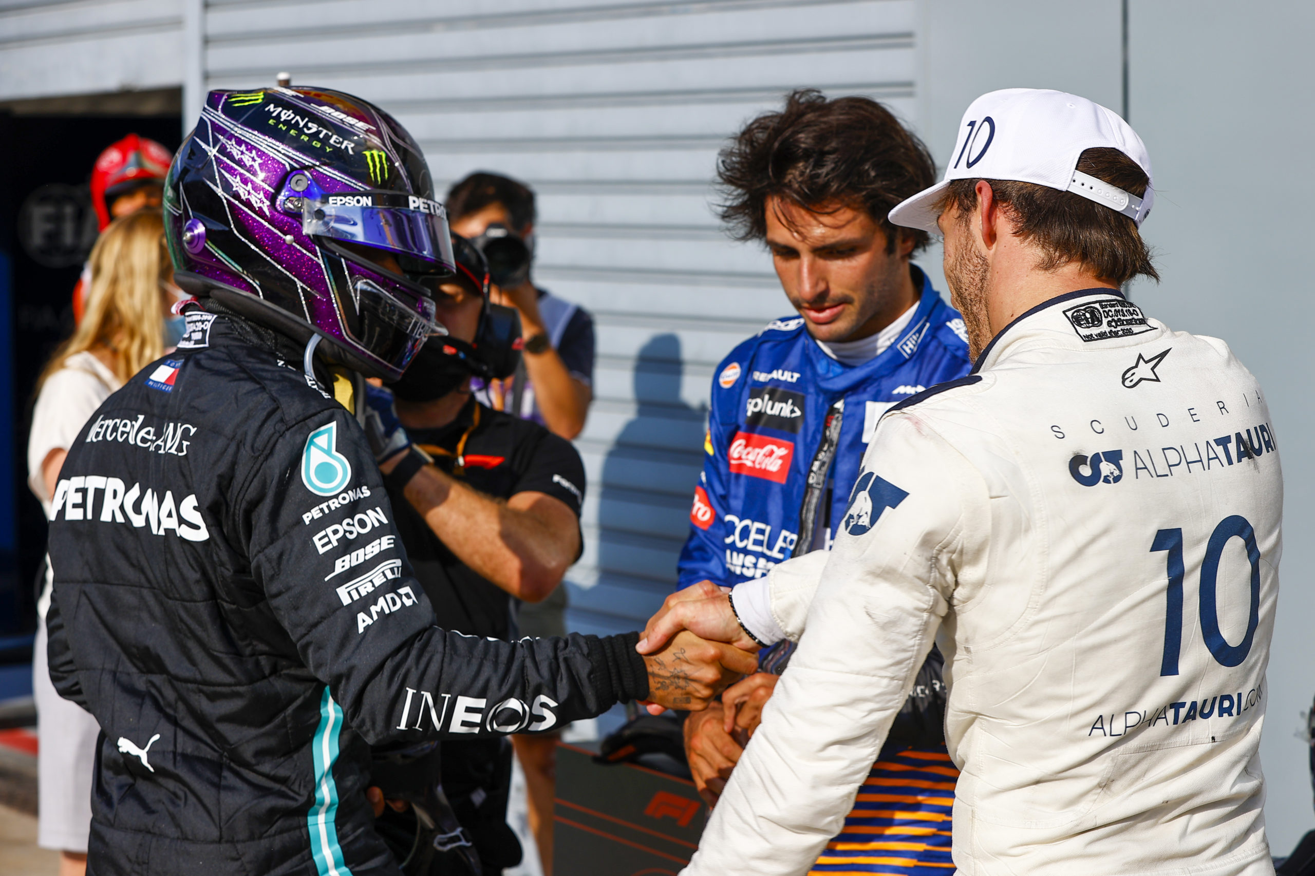 2020 Italian Grand Prix, Sunday - LAT Images, Mercedes, Hamilton, Gasly, Sainz