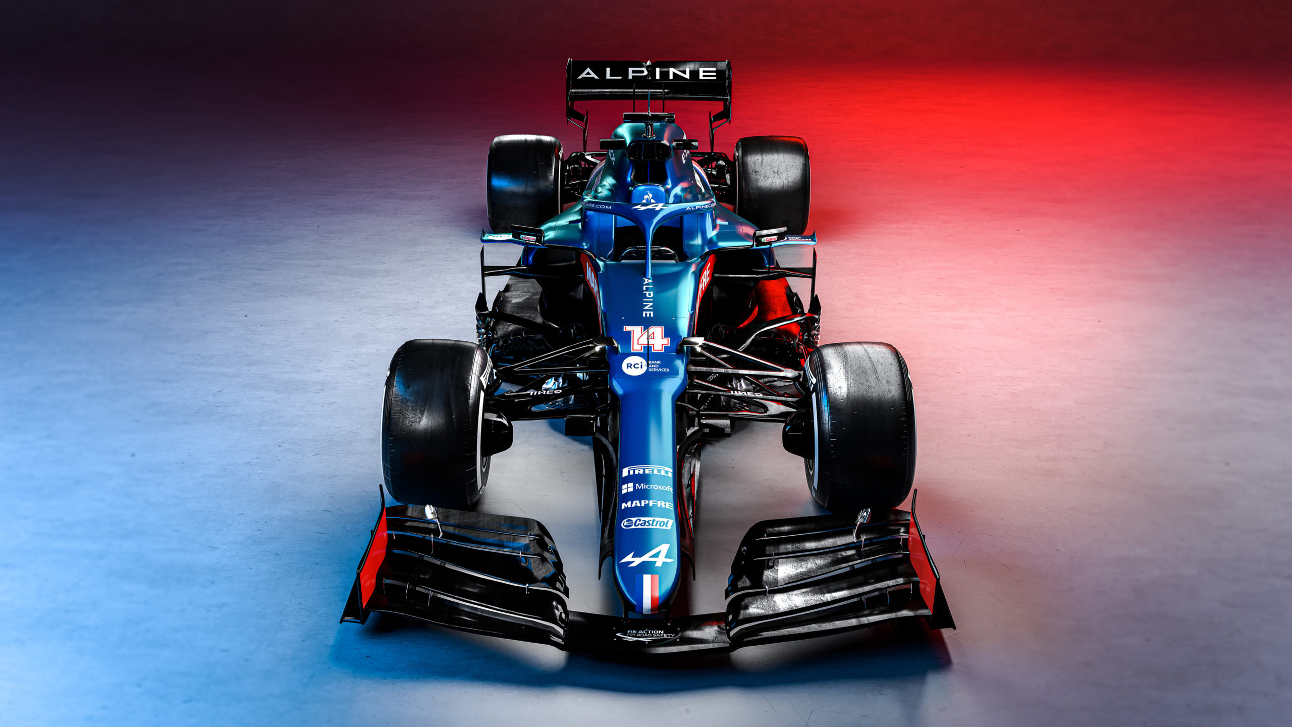 The Alpine F1 Team A521. Alpine F1 Team Launch, Tuesday 2nd March 2021.